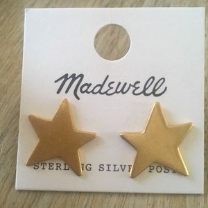 Madewell gold star earrings